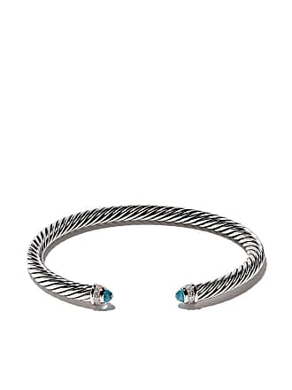 David Yurman Cable Classic blue topaz and diamond cuff bracelet - Ssabtdi