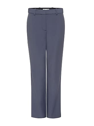 Rebecca Taylor Straight-Leg Cropped Suit Pants Storm Grey