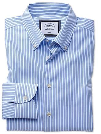 51bc565ea8c57 CHARLES TYRWHITT Bügelfreies Classic Fit Business-Casual Hemd mit  Button-down Kragen in himmelblau