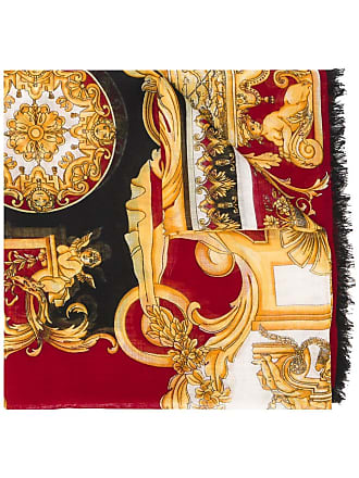 Versace barocco print scarf - Red