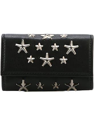 Jimmy Choo London Porta-chaves de couro com estrelas - Preto