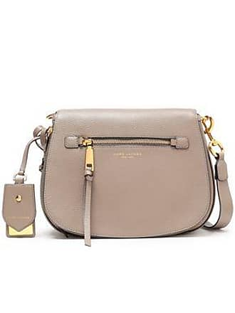 30ea5b95b0 Marc Jacobs Marc Jacobs Woman Recruit Small Pebbled-leather Shoulder Bag  Stone Size