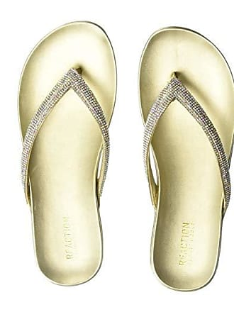 Kenneth Cole Reaction Slim Thong (Soft Gold Metallic Smooth) Womens Shoes