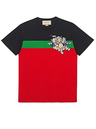 a211329f0 Gucci Camiseta Extragrande con Tres Cerditos de Hombre