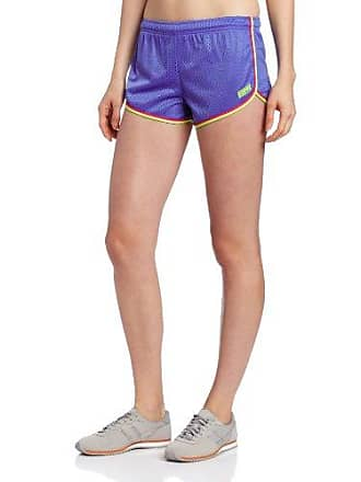 Soffe Womens Lacrosse Shorty Short, Amparo Blue/Pink Glo/Solar Yellow, Medium
