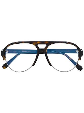 Brioni Armação de óculos aviador - Marrom