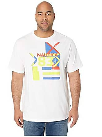 8cd2b4b767692 Nautica Mens Big and Tall Short Sleeve Crew Neck Regatta 83 Series 100%  Cotton T