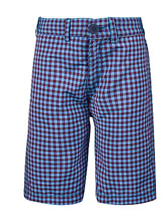 Vilebrequin Boys Ready to Wear - Boys Straight Bermuda Shorts Carreaux - BERMUDA - BARATINO - Blue - 14 - Vilebrequin