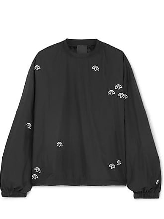 adidas Originals by Alexander Wang Embroidered Shell Sweatshirt - Black