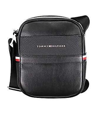 b73b233cc4 Tommy Hilfiger Th Business Mini Reporter, Sacs portés épaule homme, Noir  (Black)