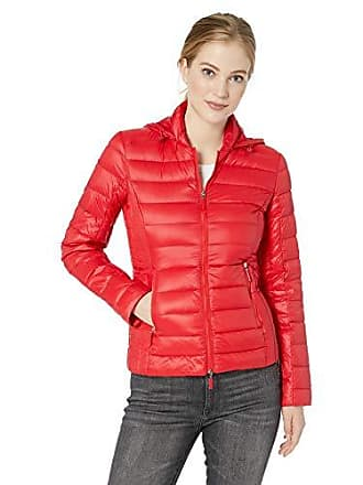 A|X Armani Exchange Womens Zip Up Fitted Down Jacket, Moulin Rouge, M