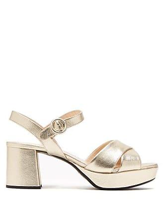 54794f34fed Prada Platform Metallic Leather Sandals - Womens - Gold