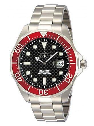 Zales Mens Invicta Pro Diver Watch with Black Carbon Fiber Dial (Model: 12565)