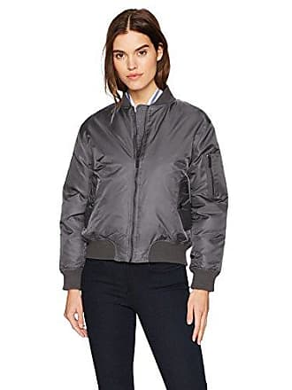 William Rast Womens Aviator Bomber Jacket, Gun Metal, M
