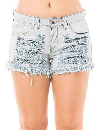Eventual Short Jeans Feminino Angie Evt Com Aplique Eventual