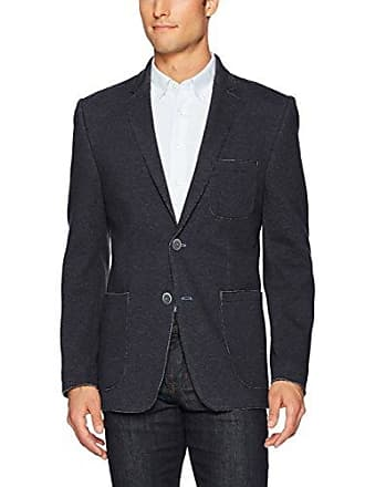 Bugatchi Mens Two Buttton Knitted Solid Blazer, NIBL, 40