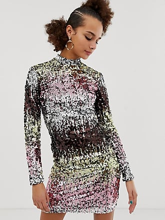 New Look Långärmad bodyconklänning med paljetter i flera färger - Färgad eb276666d106c