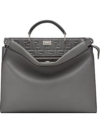 cce44f5bcd ... shopping fendi peekaboo fit tote bag grey ea036 568d7