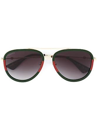 9a7cdd6c5bd Gucci aviator shaped sunglasses - Green
