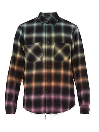 Amiri Plaid Cotton Blend Flannel Shirt - Mens - Multi