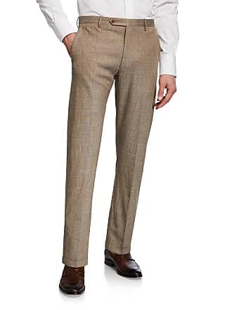Zanella Mens Slub Weave Dress Trousers