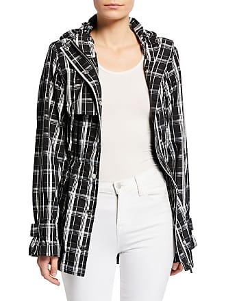 Iconic American Designer Hooded Plaid Jacket