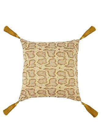 House of Hackney Serpentis Snake-jacquard Cushion - Beige Multi