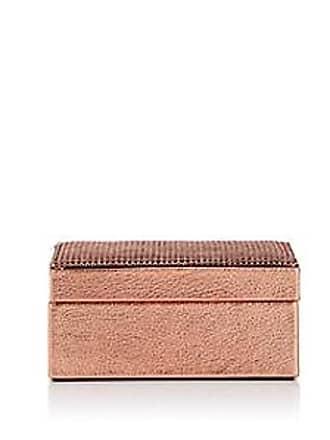 Barneys New York Leather & Mesh Small Box - Gold