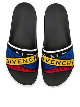 Givenchy Slide Sandals in Yellow,Black,Blue