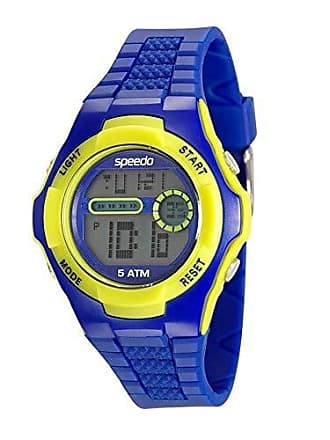Speedo Relógio Speedo Unissex Pulseira de Plástico Diversas Cores - Azul-Amarelo