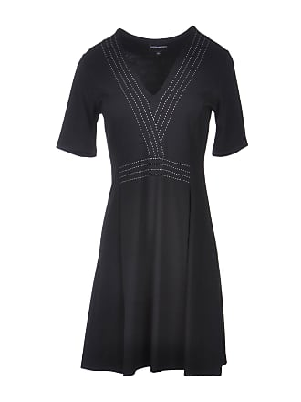 c38325d2310 Emporio Armani Black Linen Embroidered Sleeveless Maxi Dress. Delivery   Delivery costs apply. Emporio Armani DRESSES - Short dresses su YOOX.COM