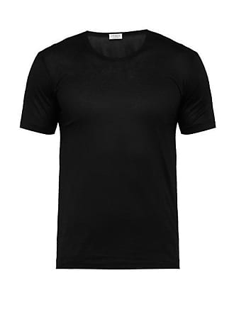 Zimmerli 265 Royal Classic Cotton Jersey T Shirt - Mens - Black