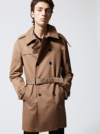 The Kooples Beige belted double-breasted trench coat - MEN