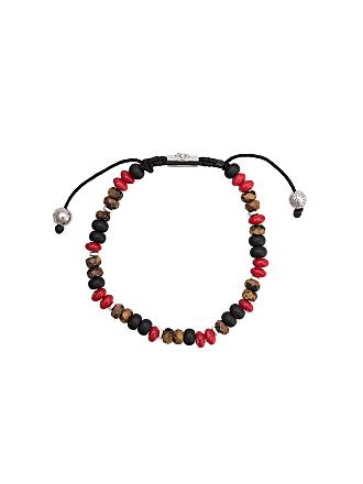 Nialaya Pulseira ajustável de pedras - Preto