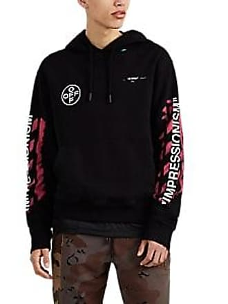05903bb36476 Off-white Mens Impressionism Cotton Hoodie - Black Size XS