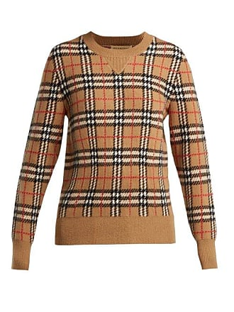 Burberry Banbury Vintage Check Cashmere Sweater - Womens - Beige Multi