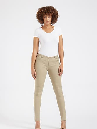 Alloy Apparel Tall Skinny Basic Twill Plus Size Pants for Women Khaki 15/35 - Cotton