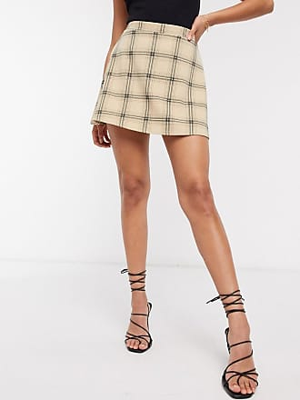 I Saw It First skater skirt in check-Multi