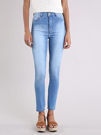 Sawary Calça Jeans Feminina Hot Pant Sawary Super Skinny Azul Claro