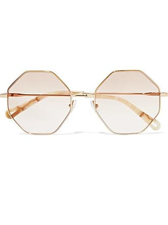 Chloé Octagon-frame Gold-tone And Tortoiseshell Acetate Optical Glasses