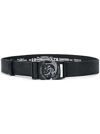 Diesel Mohawk logo belt - Black