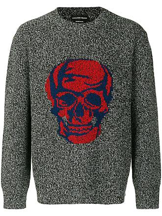 Alexander McQueen skull-motif jumper - Grey