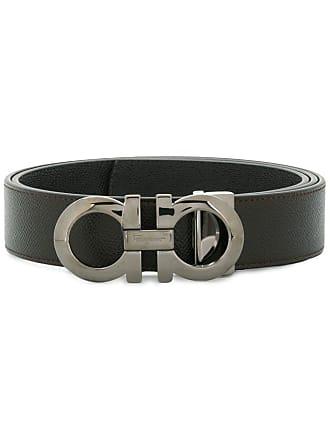 Salvatore Ferragamo double Gancio buckle belt - Brown
