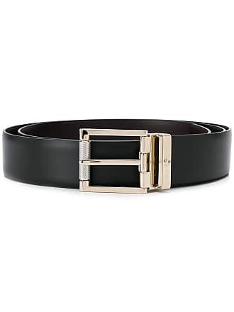 Salvatore Ferragamo gold-tone buckle belt - Black