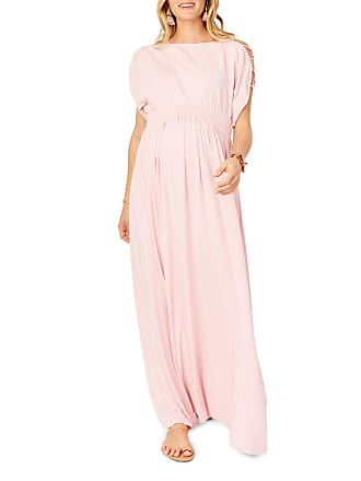 f3f1059d7c5b3 Ingrid & Isabel Maternity Laced-Sleeve Smocked Empire Maxi Dress
