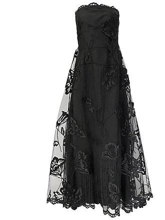8bbbec2345a Bill Blass Fall 2006 Bill Blass Strapless Strapless Black Applique Floral    Net Dress