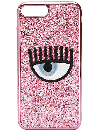Chiara Ferragni Capa para celular bordada Eye - Rosa