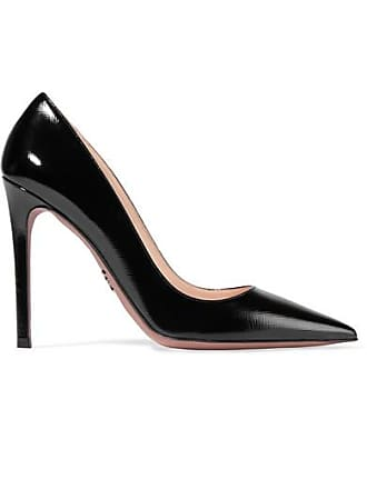 940e9347d9 Prada Glossed Textured-leather Pumps - Black