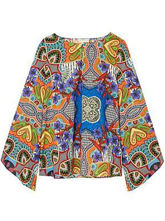 Etro Etro Woman Printed Cotton-voile Top Multicolor Size 42