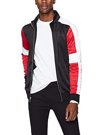 2(x)ist Mens Zip Up Track Jacket Outerwear, Black/White/Scooter, Large